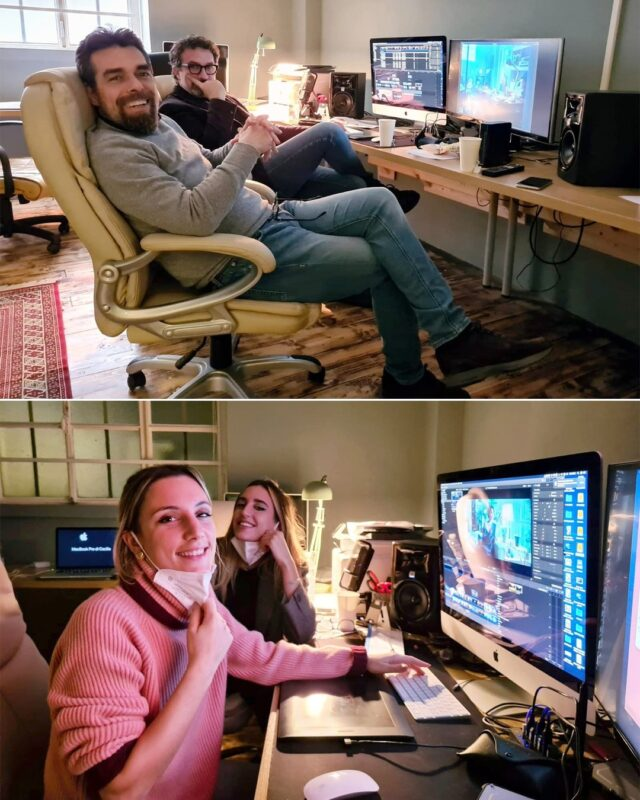"Visionaria Film è produzione ma anche post produzione e video editing service con... in ordine di apparizione: ""The Master"" @cantalupo_daniele, il ""Sensei della Post"" @diego.marinello, ""Editing Wonderwoman"" @elitamontini e ""The Young Colorist"" Cecilia Barbuti. 😃 #cinema #pubblicità #postproduction #videoeditorslife"